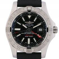 Breitling Avenger II GMT Stahl Automatik Kautschuk Armband 43mm