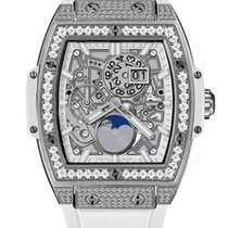 Hublot Spirit of Big Bang 42mm Titanium White Pave Watch