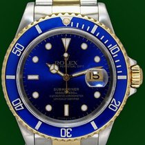 Ρολεξ (Rolex) Submariner Date 16613 Gold Steel Blue Dial...