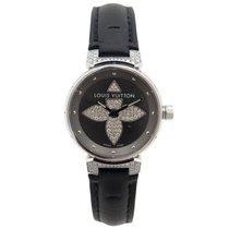 Louis Vuitton tambour forever q121f 28 mm diamant en acier watch