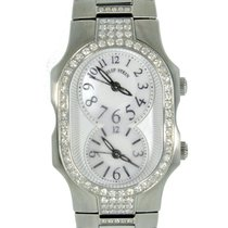 Philip Stein Dual Time Zone Diamond Bezel MOP Dial