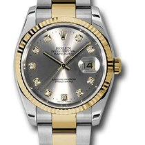 Rolex 116233 Datejust Stainless Steel & Yellow Gold Ladies...