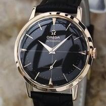 Omega 18k Solid Rose Gold Calibre 491 34mm 1960s Swiss Made...