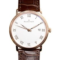 Blancpain Villeret 18k Rose Gold White Automatic 6651-3642-55B