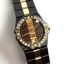 Chopard St. Moritz 18k Yellow Gold & Crome Steel Ladies...