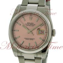"""Rolex Datejust 36mm """"Red Date"""", Pink Dial, Domed Bezel..."""
