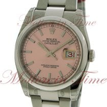 "Rolex Datejust 36mm ""Red Date"", Pink Dial, Domed Bezel..."