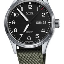 Oris Big Crown ProPilot Day Date, Olive Textile Bracelet