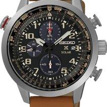 Seiko Solar SSC421P1 Herrenchronograph Mit Weckzeit