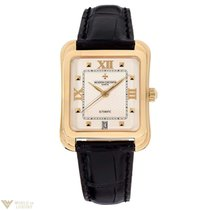 Vacheron Constantin Toledo 18K Yellow Gold Leather Men`s Watch