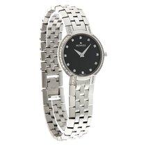 Movado Faceto Diamond Ladies Black Dial Swiss Quartz Watch...