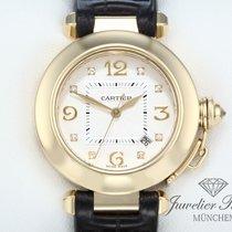 Cartier Pasha 32 mm Gelbgold 750 Diamanten Automatik Lady