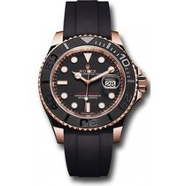 Rolex Yachtmaster 116655 18K Everose gold case and Bezel with...