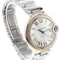 Cartier Ballon Bleu Silver Dial Diamond Automatic Women Watch...
