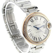 Cartier Ballon Bleu Silver Dial Diamond Automatic Women Watch...