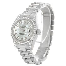 Rolex President Ladies 18k Gold Diamond Watch 179159