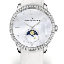 Girard Perregaux 1966 MOON PHASES White Gold Dial Mother-of-pe...