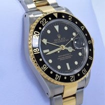 Rolex Gmt-master II 16713 Two Tone 18k Yellow Gold/ss Black...