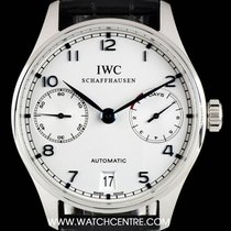 IWC S/S Silver Dial Portuguese 7 Day Power Reserve IW500107