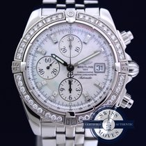 Breitling Chronomat Evolution A13356 FACTORY MOP DIAMOND DIAL...