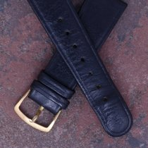 Girard Perregaux 70s Vintage New Old Stock 18mm Black Leather...