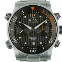 Mido Multifort Chronograph Stahl Automatik Armband Stahl 44mm...