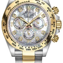 Rolex Cosmograph Daytona Steel and Gold 116503 White MOP...