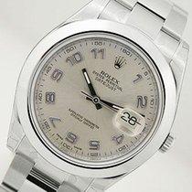 ロレックス (Rolex) Datejust Ii 116300 Mens Steel Silver Blue Arabic...