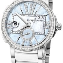 Ulysse Nardin Executive Dual Time Blue Dial Diamonds