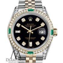 Rolex Ladies Rolex Steel And Gold 26mm Datejust Black Color...
