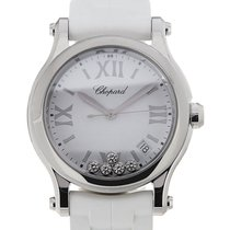 Chopard Happy Sport 36 Date White Strap