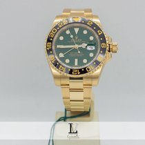 Rolex Gmt Master II Oro Gold Ref. 116718LN Green Dial