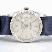 Rolex Mens Stainless Steel Datejust - Silver Dial - Blue Nato...