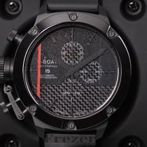 U-Boat Classico Black Carbon Fiber Dial Ceramic Black Rubber
