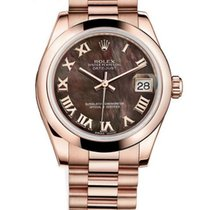 Rolex Datejust 18ct Everose Gold Mother of Pearl Dial 178245