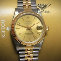 Rolex Datejust 18k Yellow Gold/Steel Dial Midsize Ladies Watch...