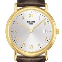 Tissot Carson Large Size Gold Case 18ct Silver Dial T