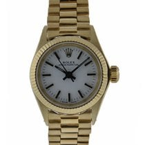 Rolex Oyster Perpetual 24mm 18kt Yellow Gold Fluted Bezel...