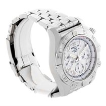 Breitling Chronomat 01 White Dial Steel Mens Watch Ab0110 Unworn