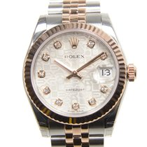 Rolex Lady Datejust 18k Rose Gold And Steel Silver Automatic...