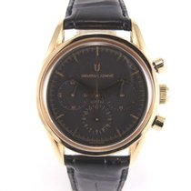 Universal Genève Compax Chronograph Rose Gold Black DIal