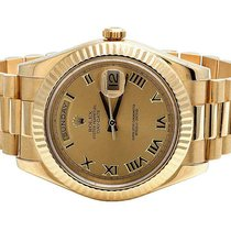Rolex Mens Rolex Day-Date II 18k Yellow Gold 41MM President...