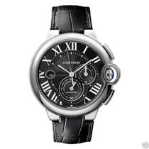 Cartier Ballon Bleu Chronograph w6920079 Stainless Steel Black...