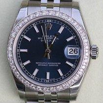 Rolex Datejust Ladies 178240 Midsize Watch Diamonds Stainless...