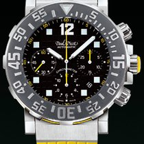 Paul Picot C-TYPE chrono chronograph  strap rubber yellow...