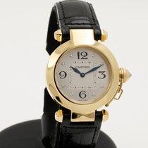 Cartier Pasha 32mm 18K yellow gold - diamond index -full set...