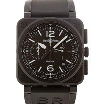 Bell & Ross Aviation 42 Chronograph Black Dial
