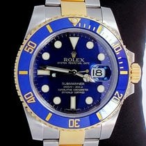 Rolex Submariner 116613 2tone 18k Yellow Gold/steel Blue...