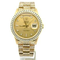 Rolex 18k Gold Day-date President Full Diamond 18238