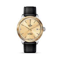 Tudor STYLE Bezel Gold Index Diamonds Date Automatic 12513
